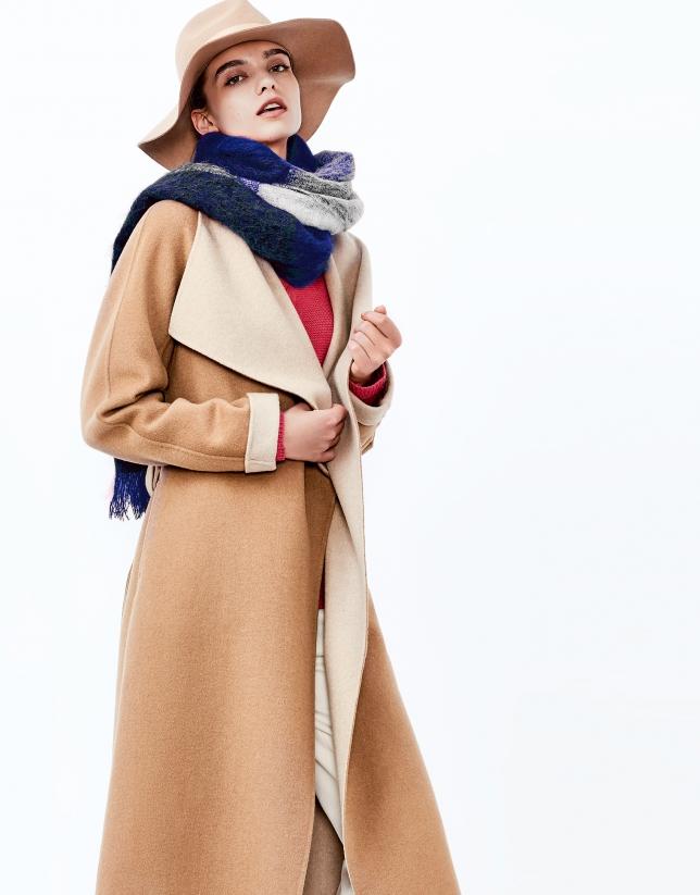 Beige double face coat