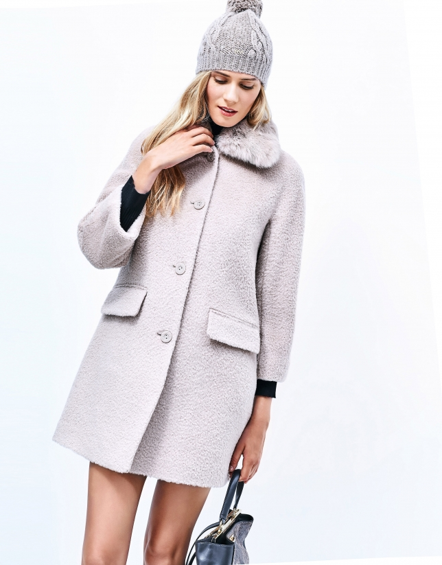 Beige short coat