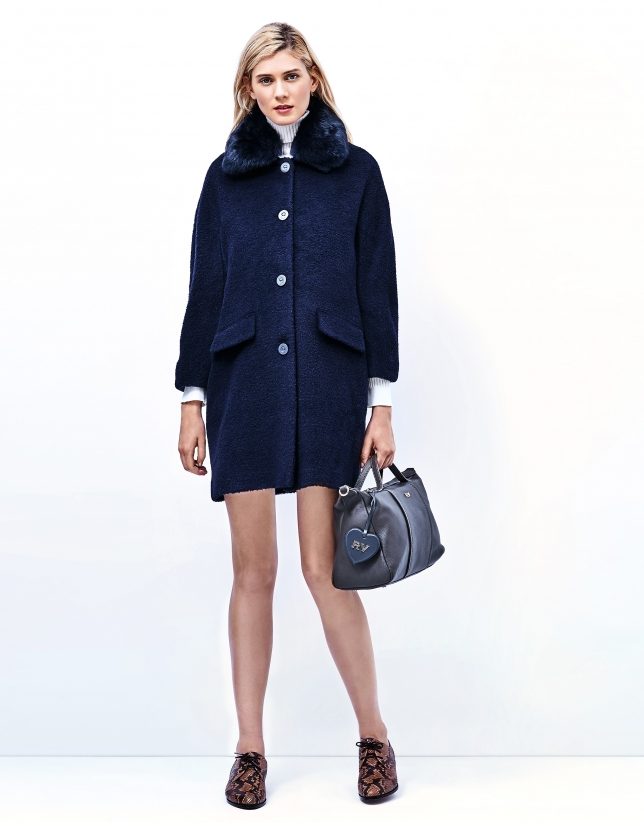 Blue short coat