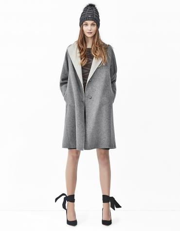 Manteau double face gris