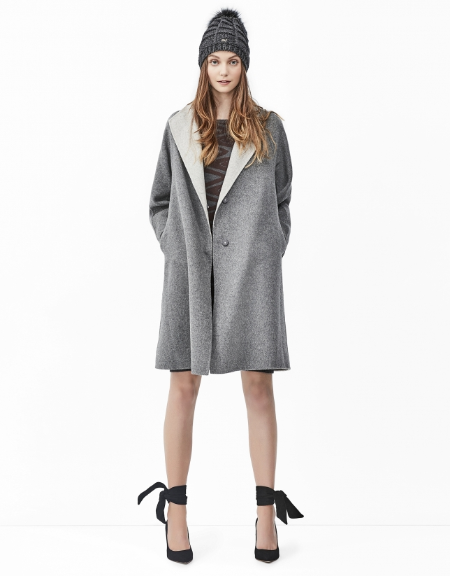 Grey double face coat