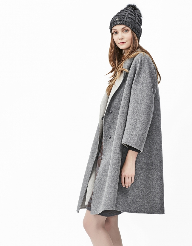Grey double face coat