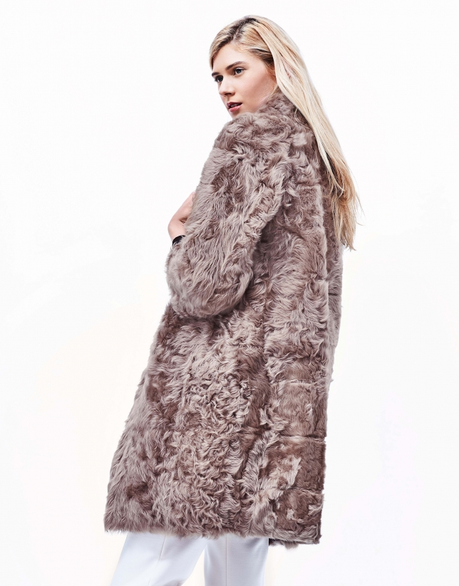 Ivory fur reversible coat