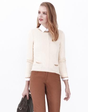Jersey bolsillos blanco roto