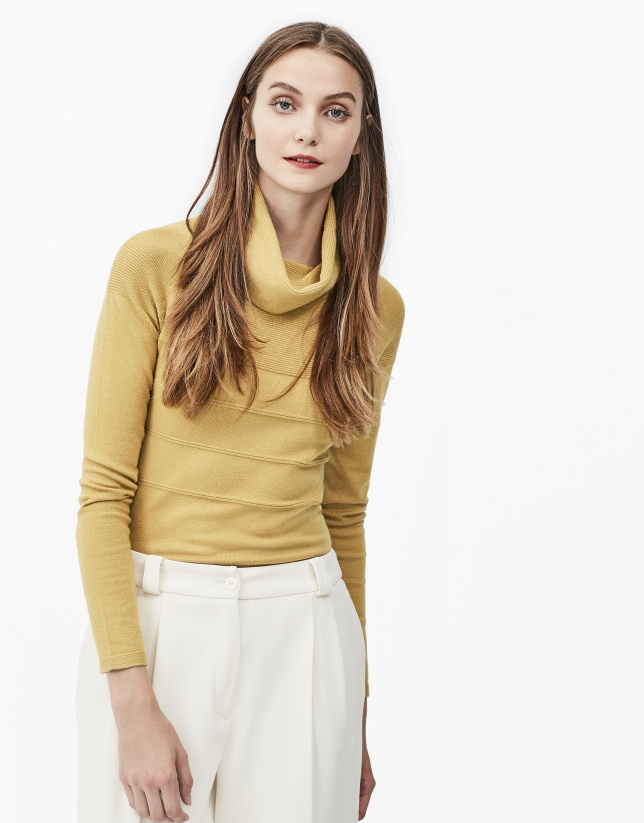 Mustard turtle neck sweater