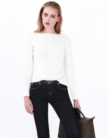 Jersey ochos blanco roto