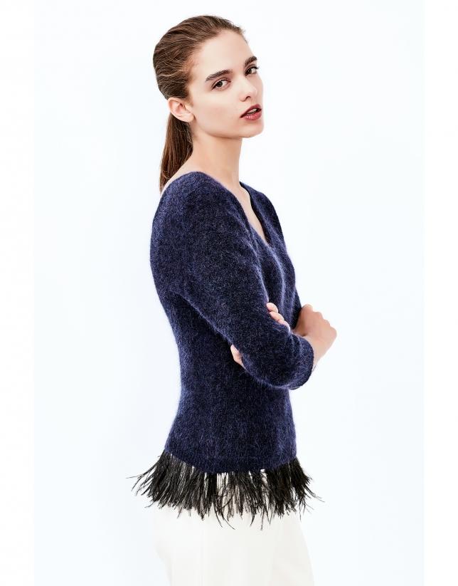 Jersey plumas azul