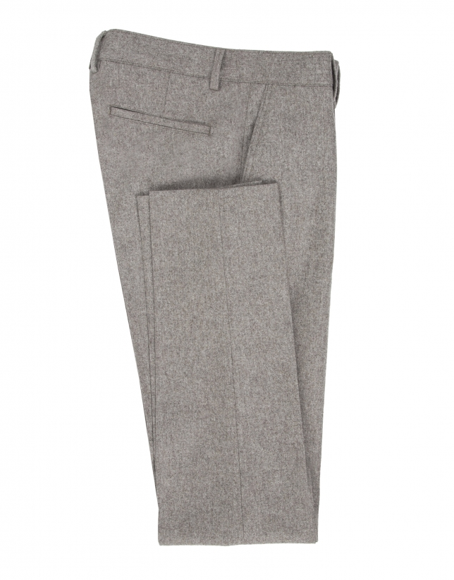 Beige flannel pants