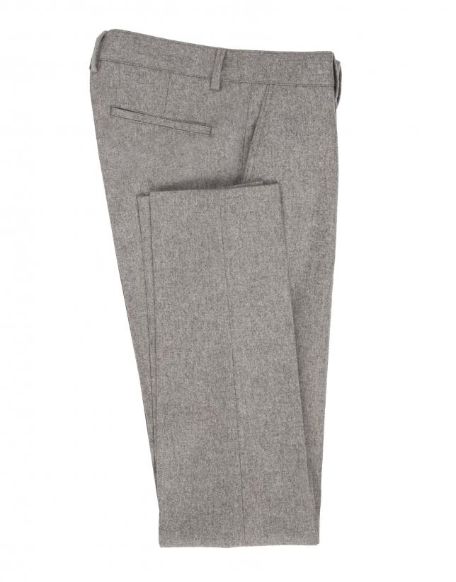 Beige flannel pants