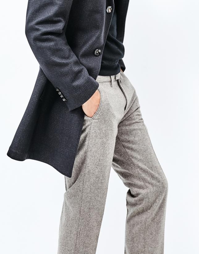 Pantalón franela beige