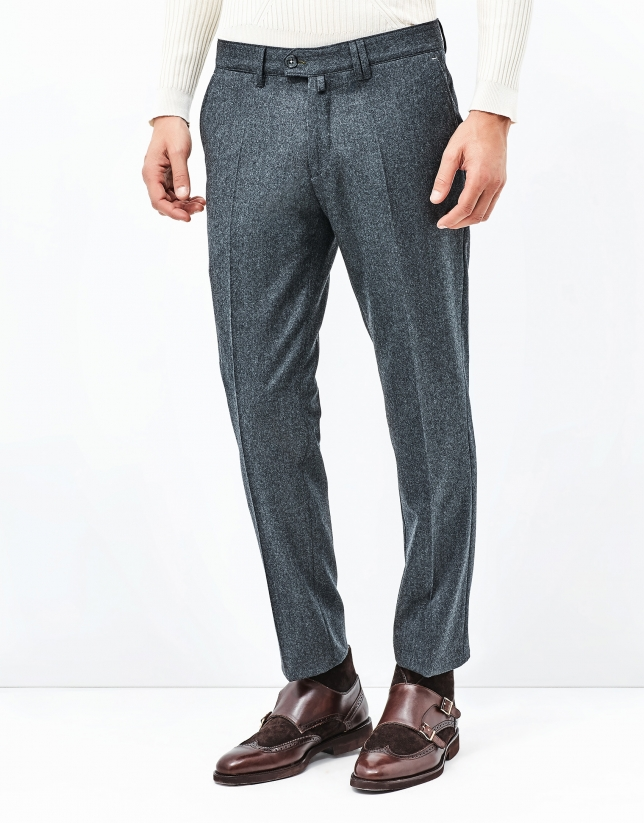 Gray flannel pants