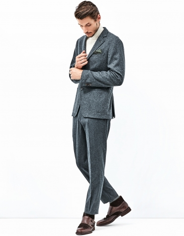 Gray flannel pants