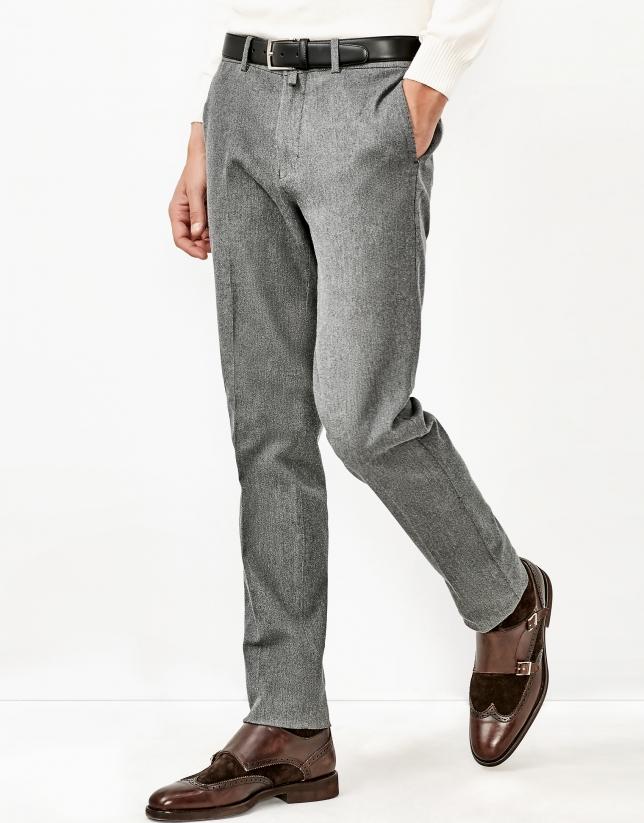 Pantalon en maille gris