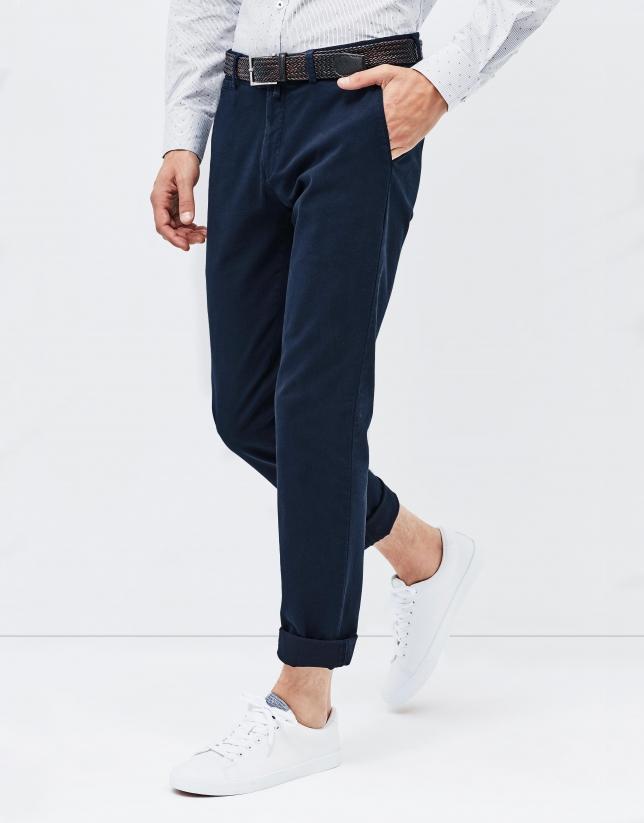 Pantalón chino marino