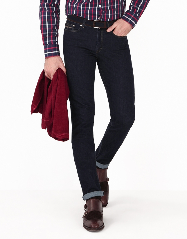 Pantalon en denim regular fit (coupe classique)