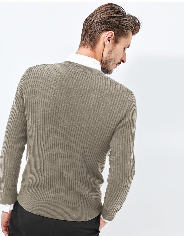 Jersey cashmere marrón
