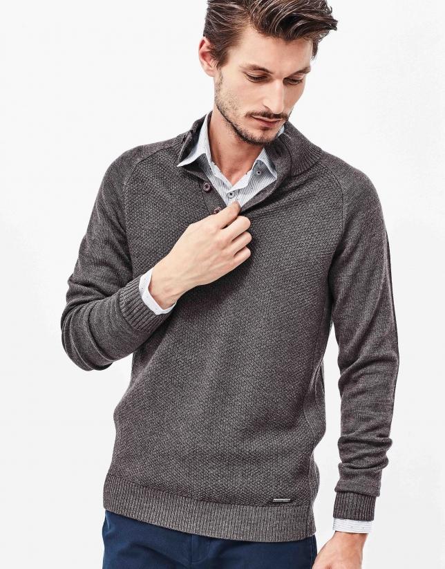 Brown wool sweater