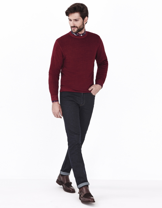 Jersey lana rojo