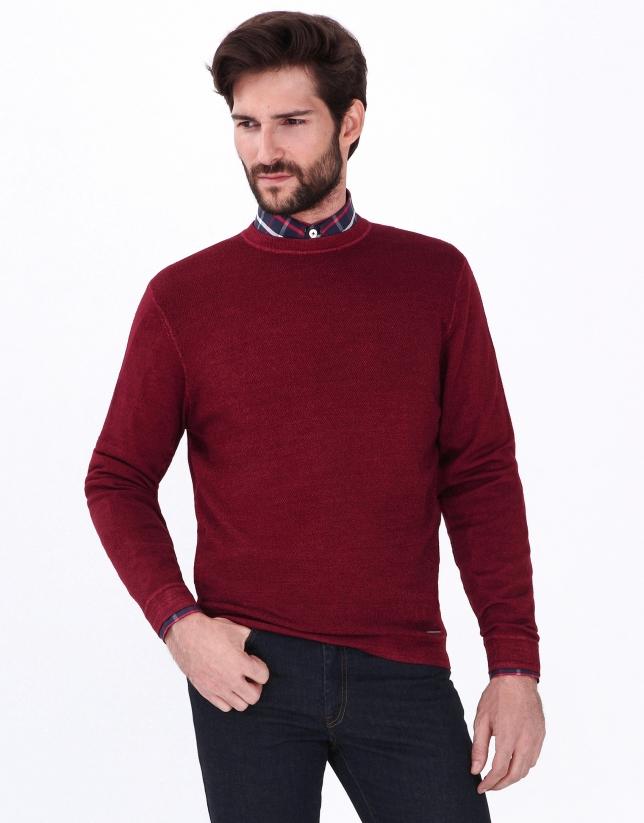 Pull rouge en laine