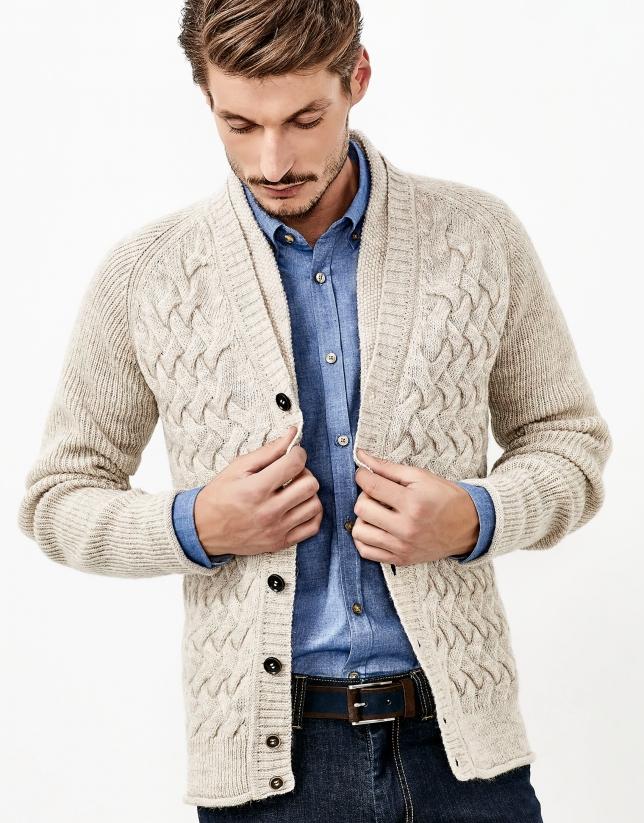 Beige alpaca jacket