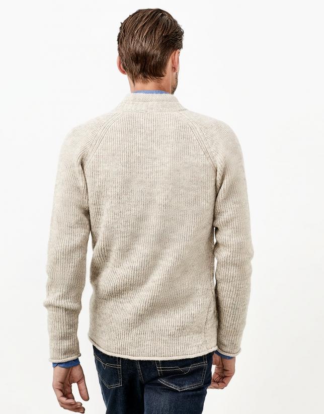 Brown alpaca jacket
