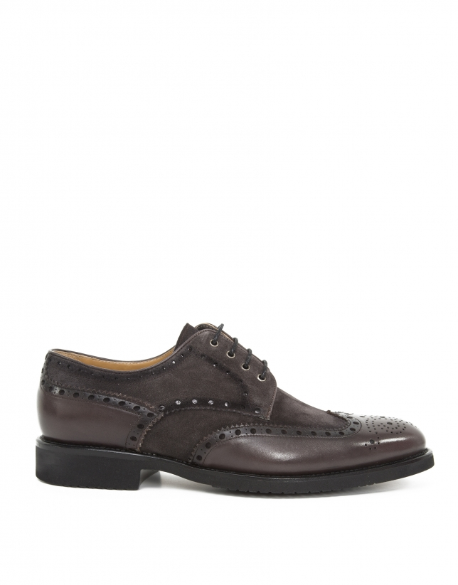 Taupe shoes with perforations