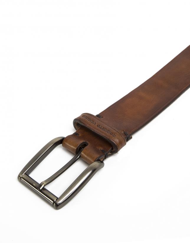 Cinturón liso marrón