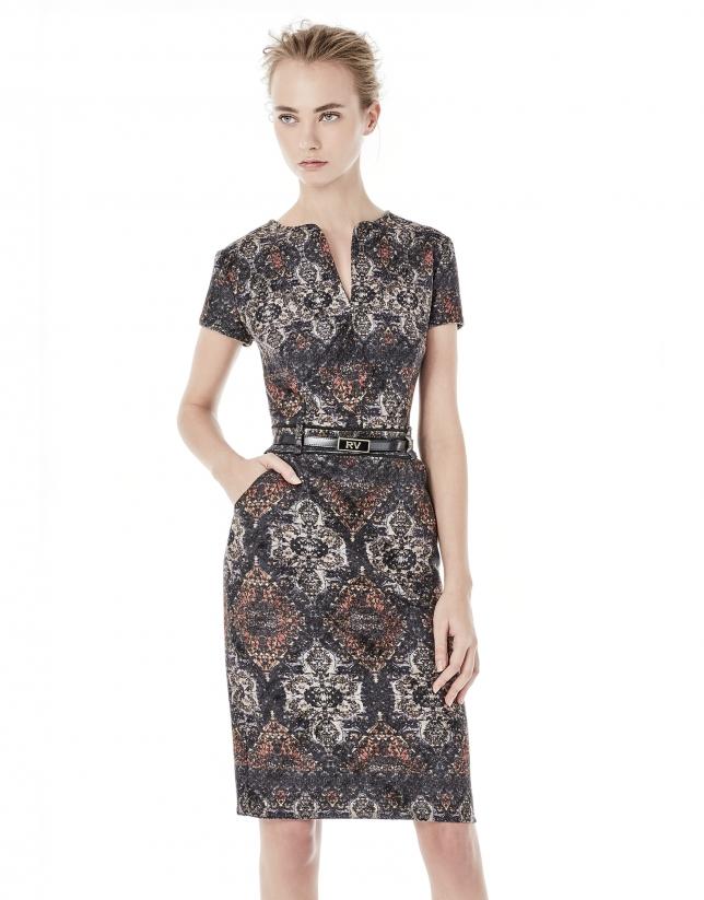 Grey short sleeve dress