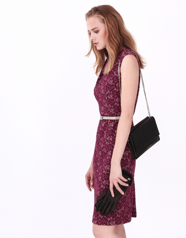 Aubergine short sleeve dress