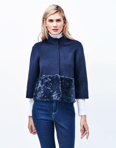 Blue jacket with Mao collar