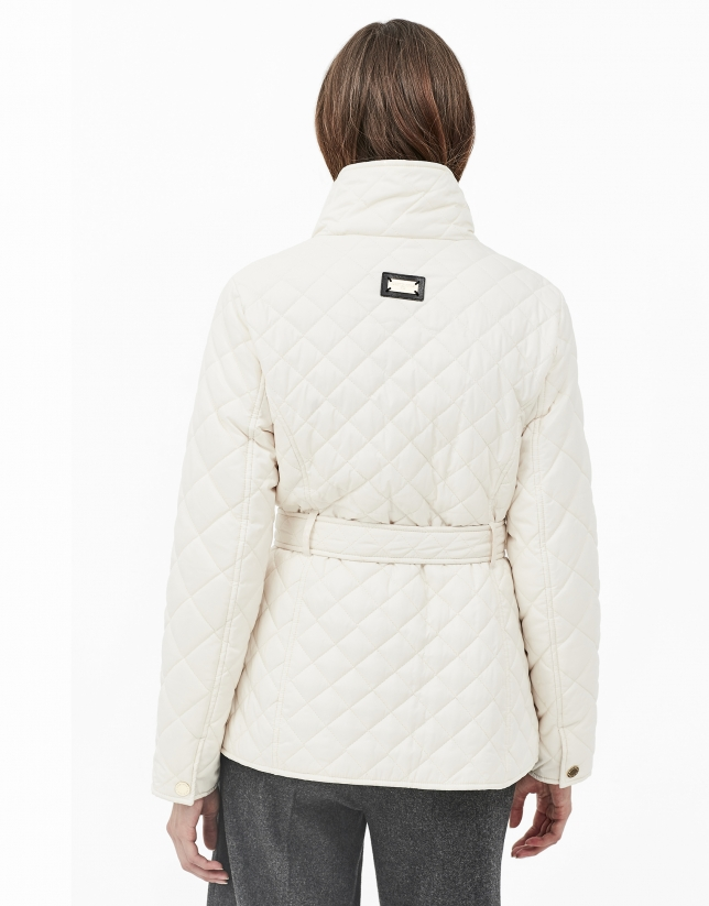 Off white quilted windbreaker