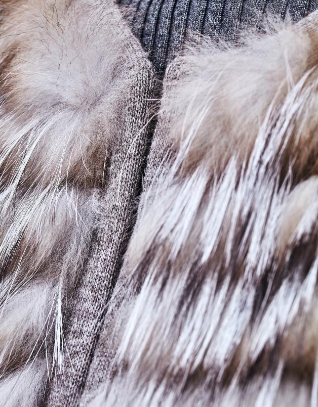 Fox fur short jacket