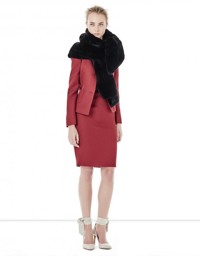 Red short jacket