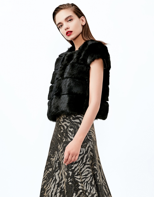 Black short sleeve bolero jacket
