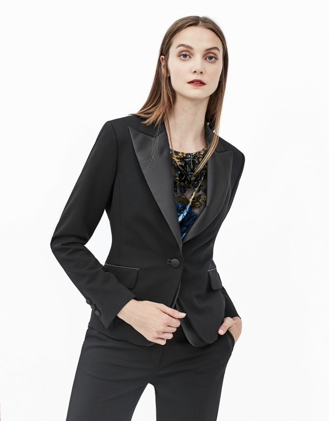 Blazer smoking negra