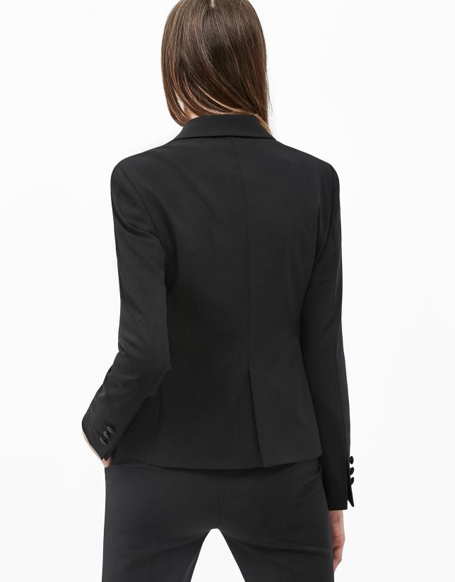 Black tuxedo blazer