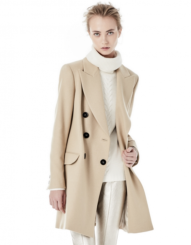 Long beige blazer