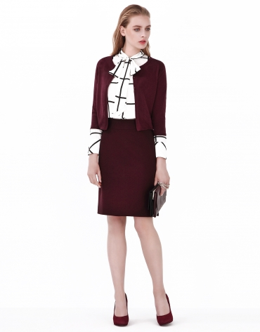 Aubergine short jacket