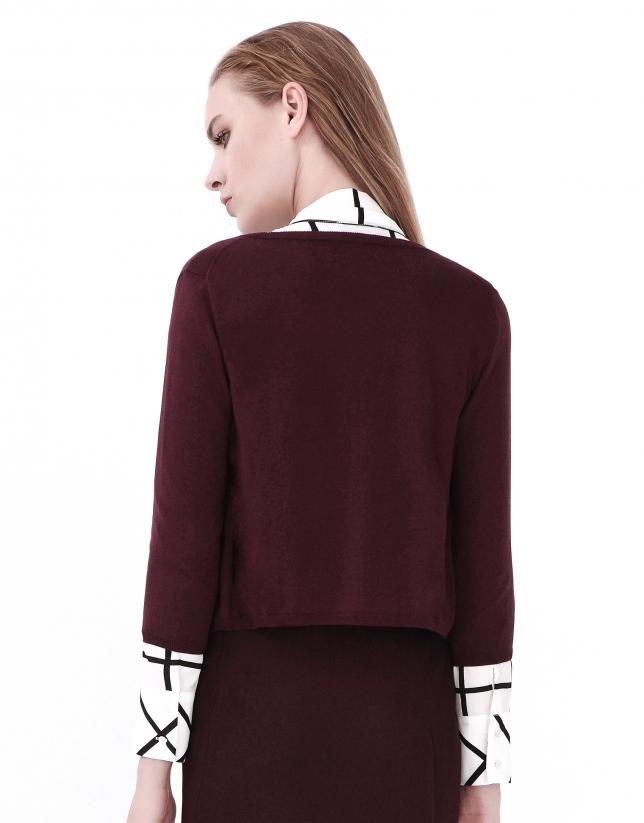 Aubergine short jacket