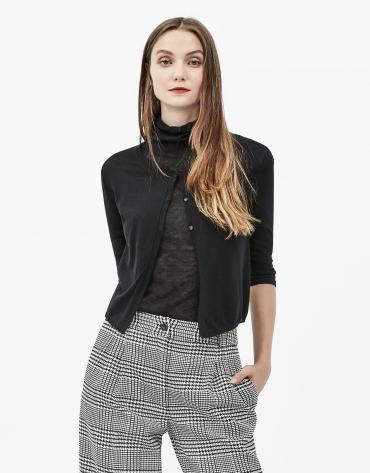 Black short jacket
