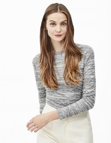 T-shirt à zigzag gris