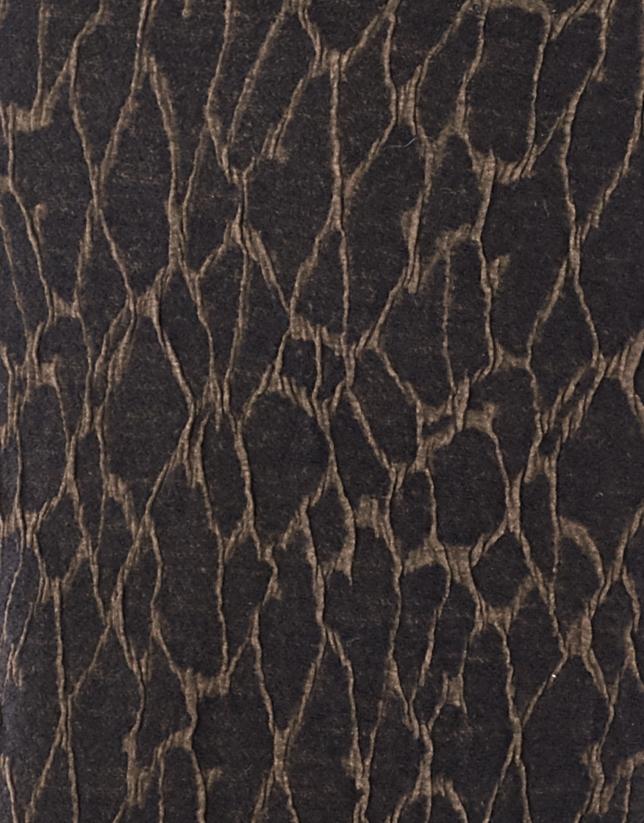 Robe en maille à manches longues imprimée