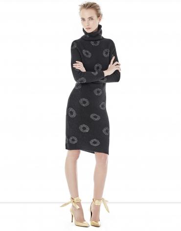 Vestido punto negro