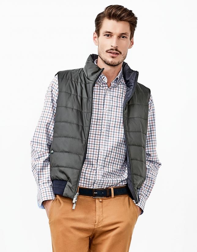 Blue reversible vest