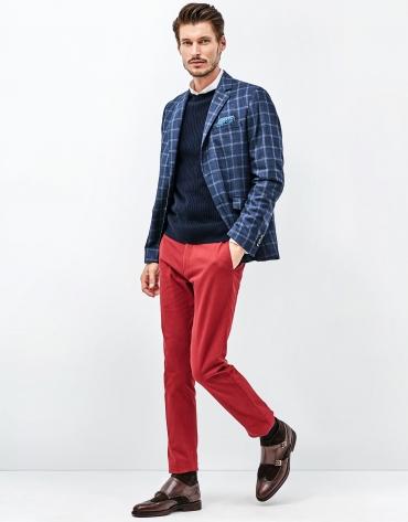 Chaqueta lana azul