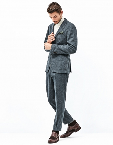 Gray knit jacket