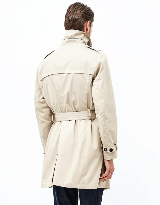 Camel raincoat