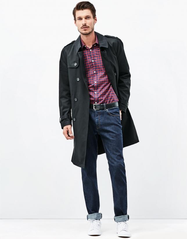 Black belt raincoat