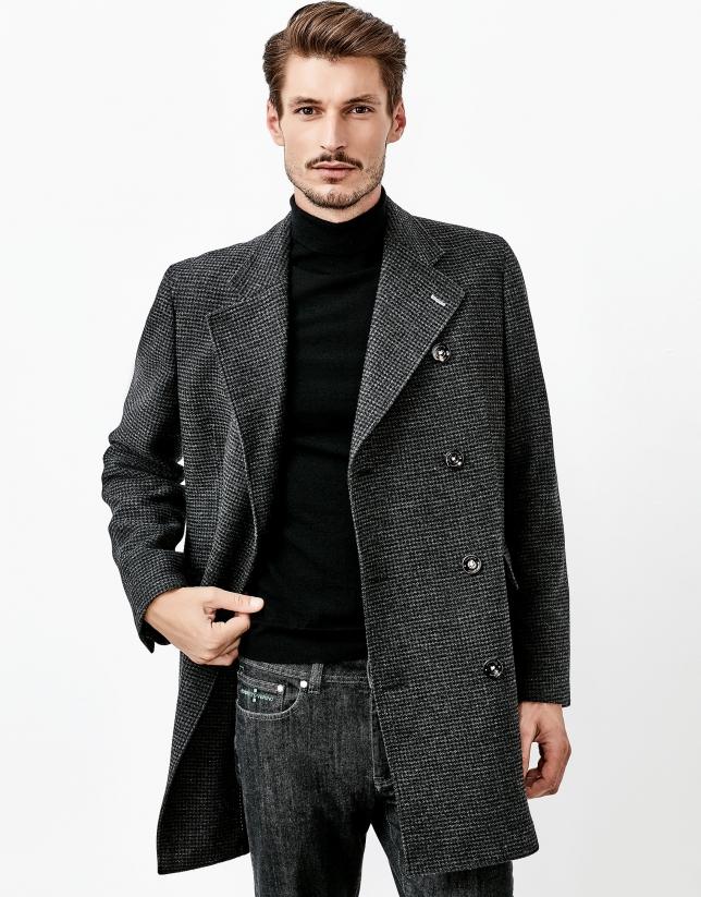 Manteau croisé gris