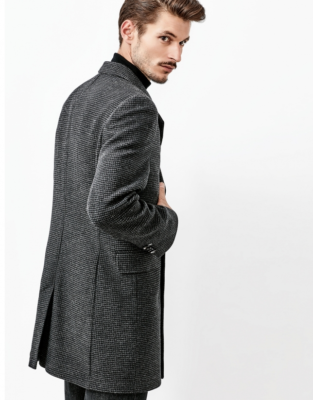 Gray double-breasted coat